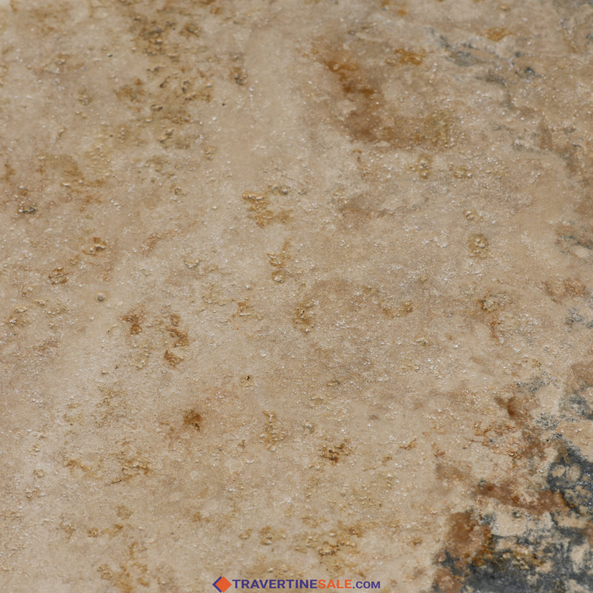 country classic travertine surface with wet rusty beige look