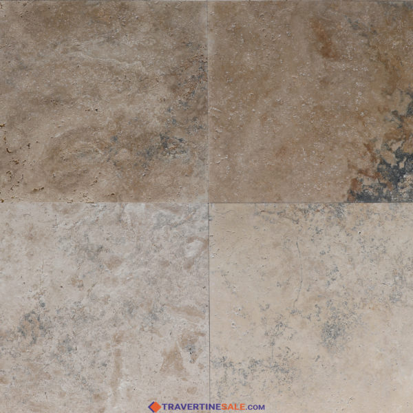 country classic select travertine tiles with brushed finish and rustic beige dry background