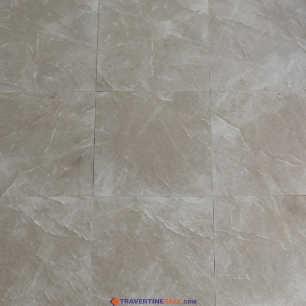 polished montana marble tiles with beige background and white lines