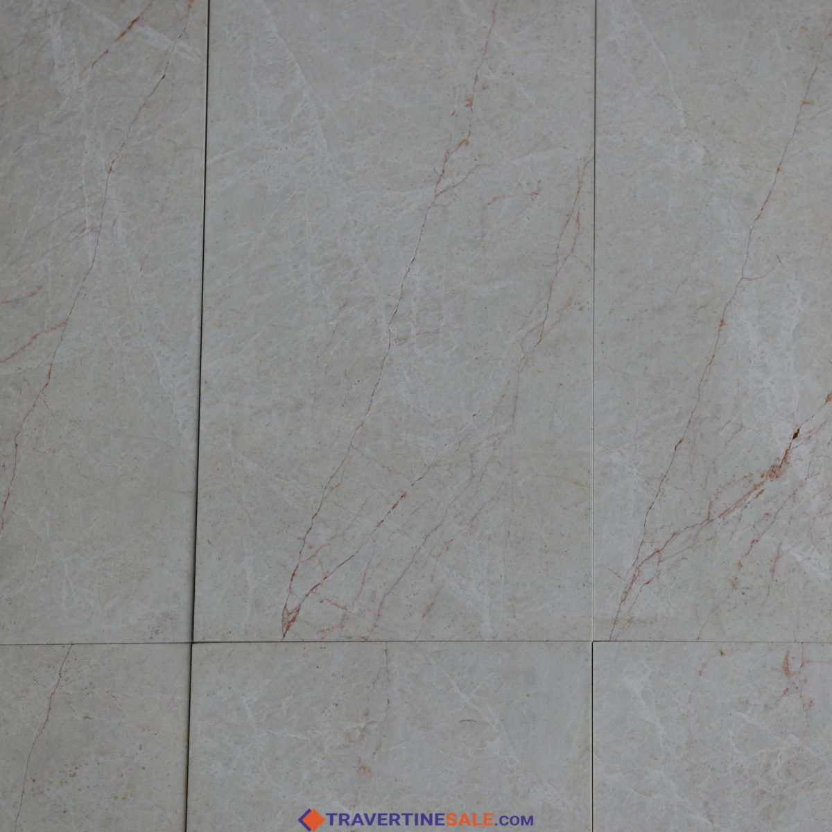 polished vanilla marble tiles with beige color with red veins close up