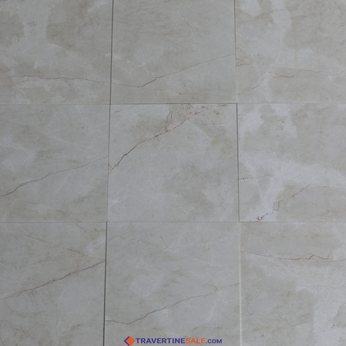 polished vanilla marble tiles with beige color and red veins