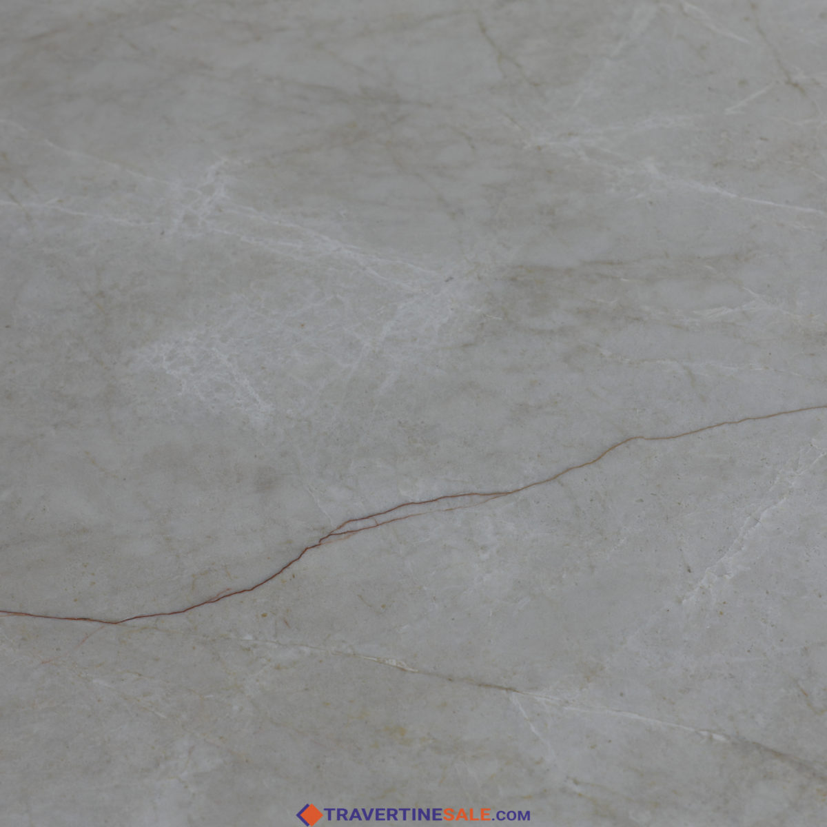 polished vanilla marble 60x60 cut to size tile with beige background and red vein