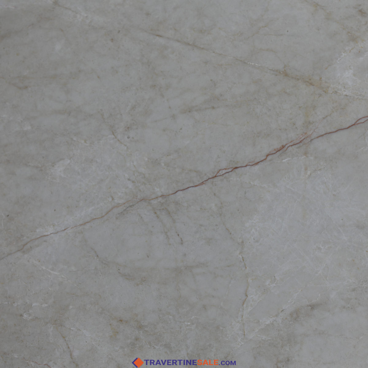 polished vanilla marble 60x60 cut to size tile surface with beige background and red vein