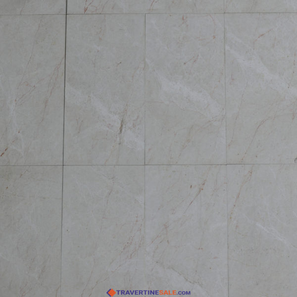 polished vanilla marble tiles with beige background and red veins