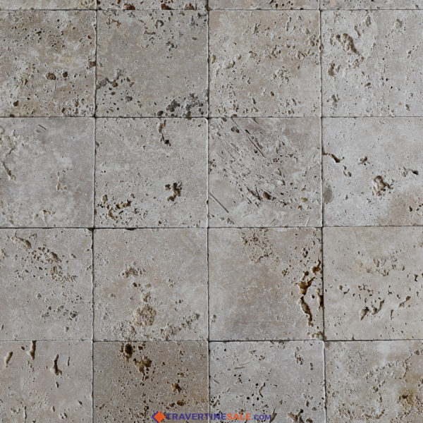 commercial classic travertine tiles with tumbled finish and beige background wide