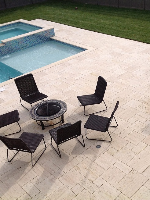 travertine paver outdoor flooring